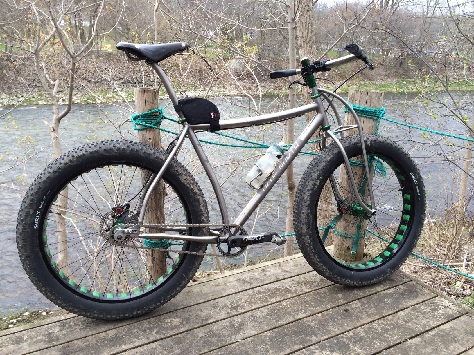 Adam's curvy Fat bike.